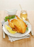 Baked chicken with lemon. And honey Royalty Free Stock Photo