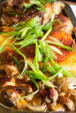 Baked chicken with mushrooms Stock Photography