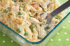 Baked Chicken Noodle Casserole royalty free stock photography