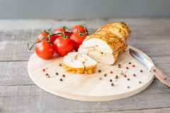 Baked chicken pastrami Royalty Free Stock Image