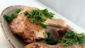 Baked chicken Stock Images