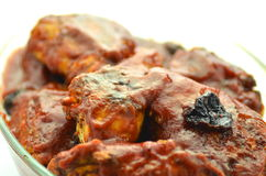 Baked chicken in plum sauce Royalty Free Stock Image