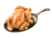 Baked chicken and potatoes Stock Image