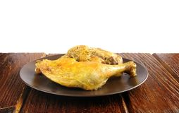 Baked chicken shanks. Royalty Free Stock Photos