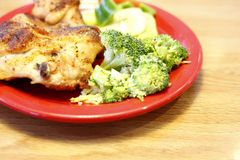 Baked chicken with sides Stock Photography