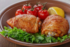 Baked chicken thigh Stock Photo