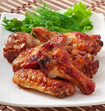 Baked chicken wings in the Asian style Royalty Free Stock Photos