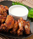Baked chicken wings in the Asian style Royalty Free Stock Image