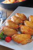 Baked chicken wings Stock Images