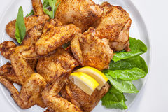 Baked chicken wings Royalty Free Stock Image