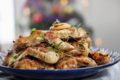 Baked chicken wings Royalty Free Stock Photos