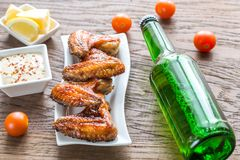 Baked chicken wings with spicy sauce Stock Photography
