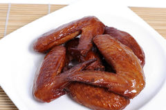 Baked chicken wings. Royalty Free Stock Photos