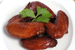 Baked chicken wings. Stock Image