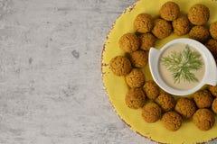 Baked chickpea falafel balls royalty free stock photo