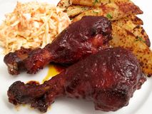 Baked Chipotle Barbecue Chicken Royalty Free Stock Images