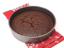 Baked Chocolate Cake Royalty Free Stock Image