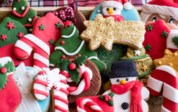 Baked Christmas cookies Royalty Free Stock Photography