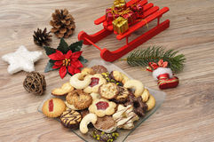 Baked christmas cookies Royalty Free Stock Images