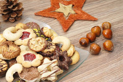 Baked christmas cookies Royalty Free Stock Image