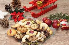 Baked christmas cookies Stock Photo