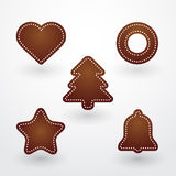 Baked Christmas gingerbread Royalty Free Stock Image