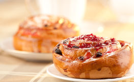 Baked cinnamon rolls Stock Images