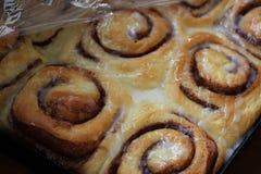 Baked cinnamon rolls Stock Photo