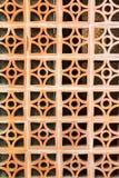 Baked clay blocks wall Stock Photography