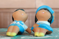Baked clay dolls Stock Image