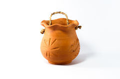 The baked clay jar Royalty Free Stock Photography