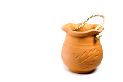 The baked clay jar Stock Photo
