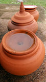 Baked clay water jar Stock Image