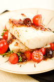 Baked Cod Stock Photo