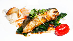 Baked cod Stock Images