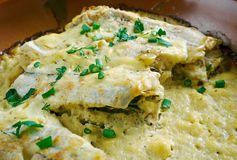 Baked cod in sour cream Royalty Free Stock Image