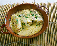 Baked cod in sour cream Royalty Free Stock Photo
