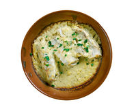 Baked cod in sour cream Stock Image