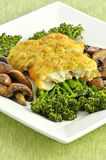 Baked cod with vegetables Stock Images
