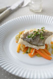 Baked cod with vegetables Royalty Free Stock Photo