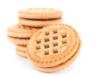 Baked cookie with stuffing Royalty Free Stock Photos