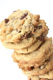 Baked Cookies. Freshly baked chocolate chip cookies out of the oven stock images