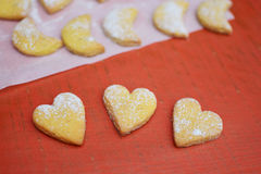Baked cookies and biscuits Stock Images