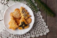 Baked cookies for Christmas III stock photos