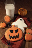 Baked cookies for halloween fun Royalty Free Stock Images
