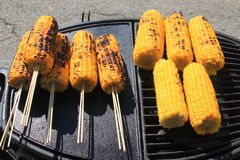 Baked corn on the grill Royalty Free Stock Photo