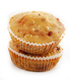 baked cornbread muffins with cheddar chees Royalty Free Stock Photo