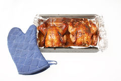Baked Cornish game hen Royalty Free Stock Photos