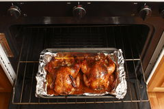 Baked Cornish game hens Royalty Free Stock Images