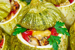 Baked courgettes with stuffing Royalty Free Stock Images